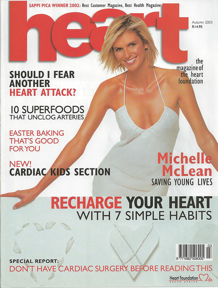 Michelle McLean on Heart Magazine Cover