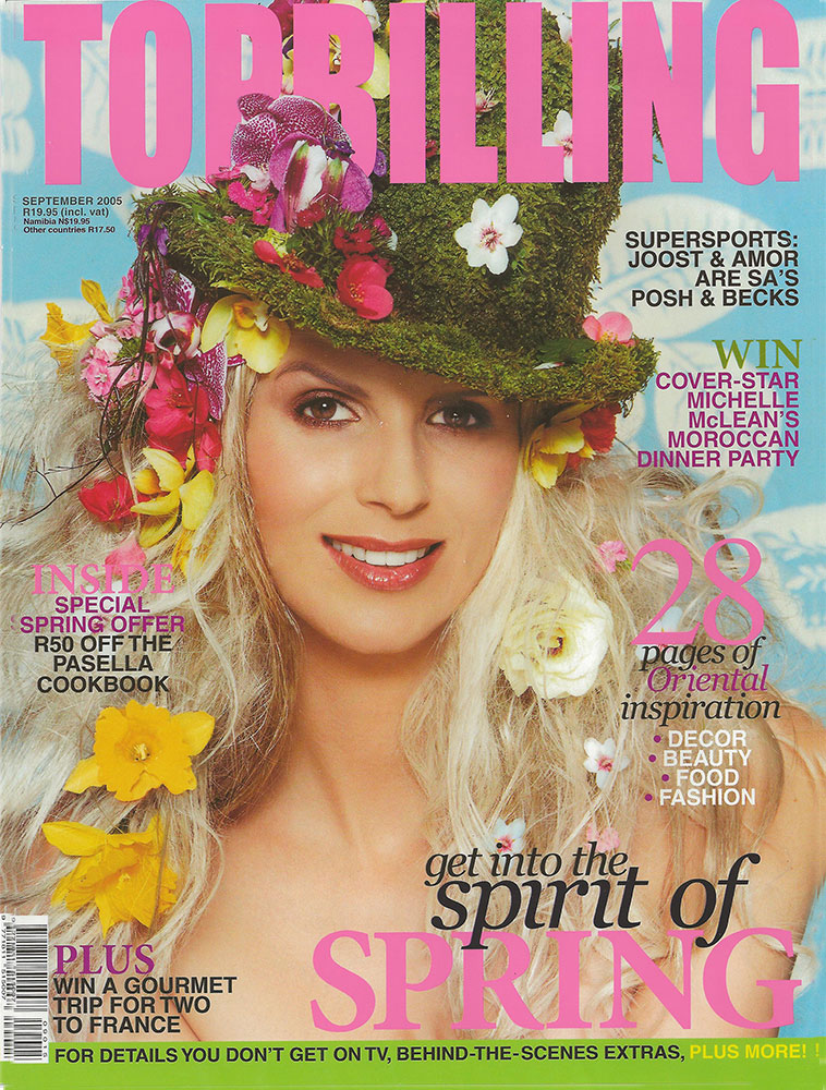 Print Modeling: Michelle McLean in Topbilling Magazine