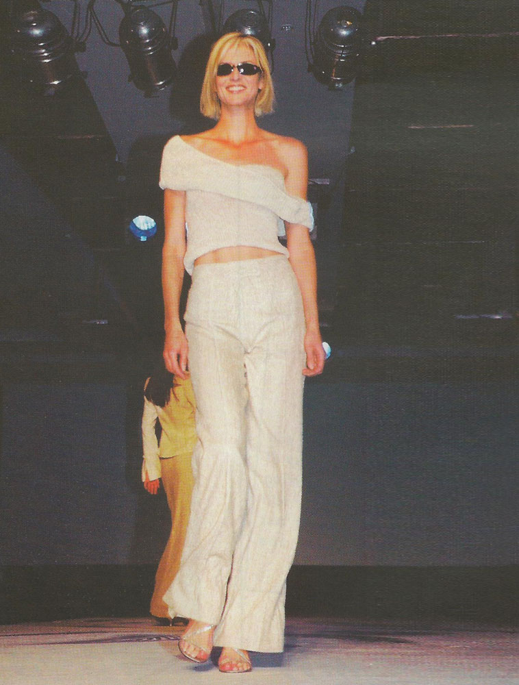 Michelle McLean on the Catwalk